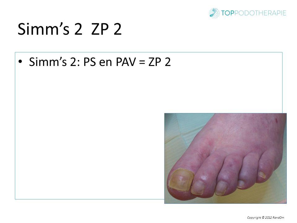 Simm's 2 ZP 2 Simm's 2: PS en PAV = ZP 2