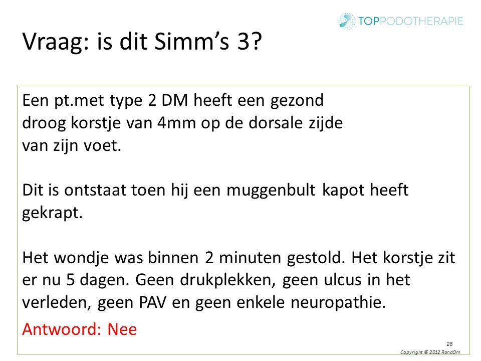 Vraag: is dit Simm's 3