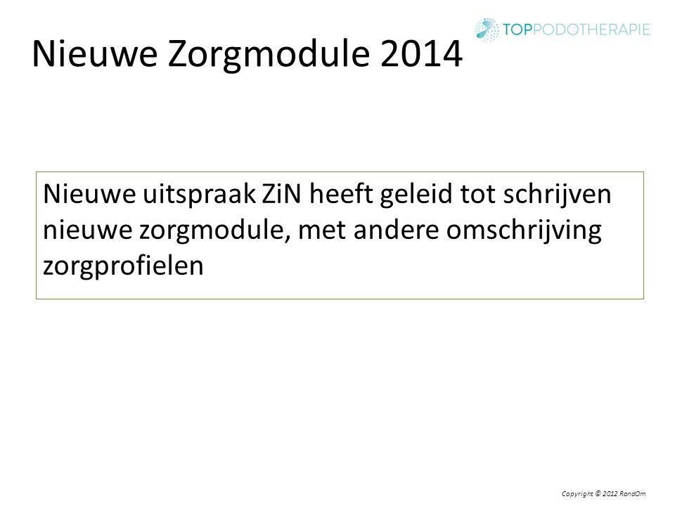 Nieuwe Zorgmodule 2014 Nieuwe uitspraak ZiN heeft geleid tot schrijven nieuwe zorgmodule, met andere omschrijving zorgprofielen.