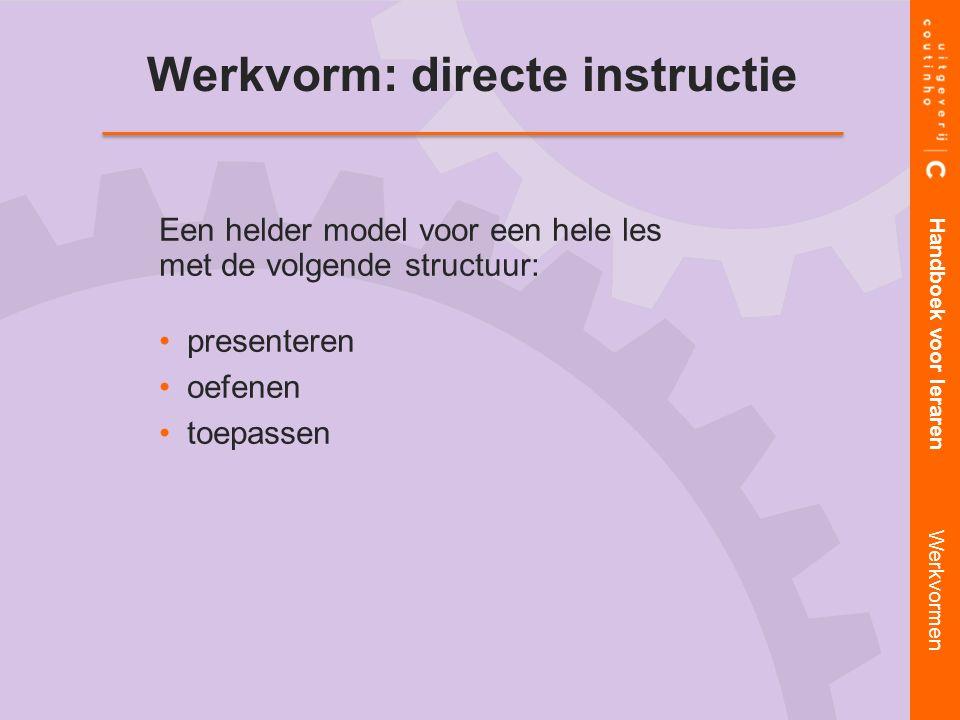 Werkvorm: directe instructie