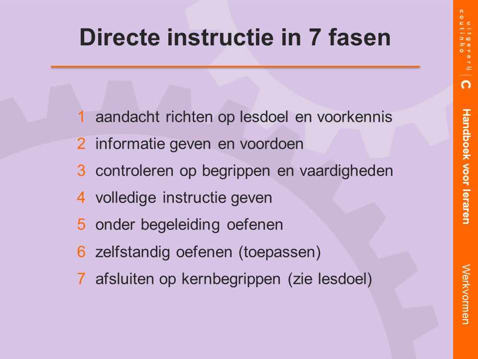 Directe instructie in 7 fasen