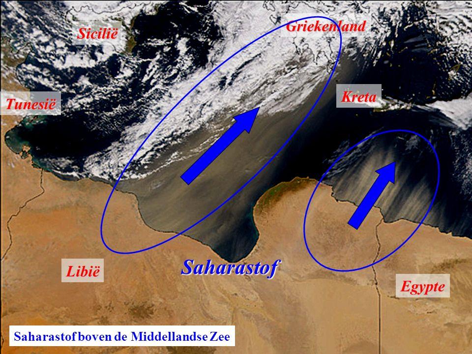 Saharastof Griekenland Sicilië Kreta Tunesië Libië Egypte