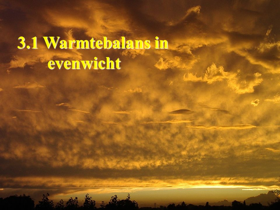 3.1 Warmtebalans in evenwicht