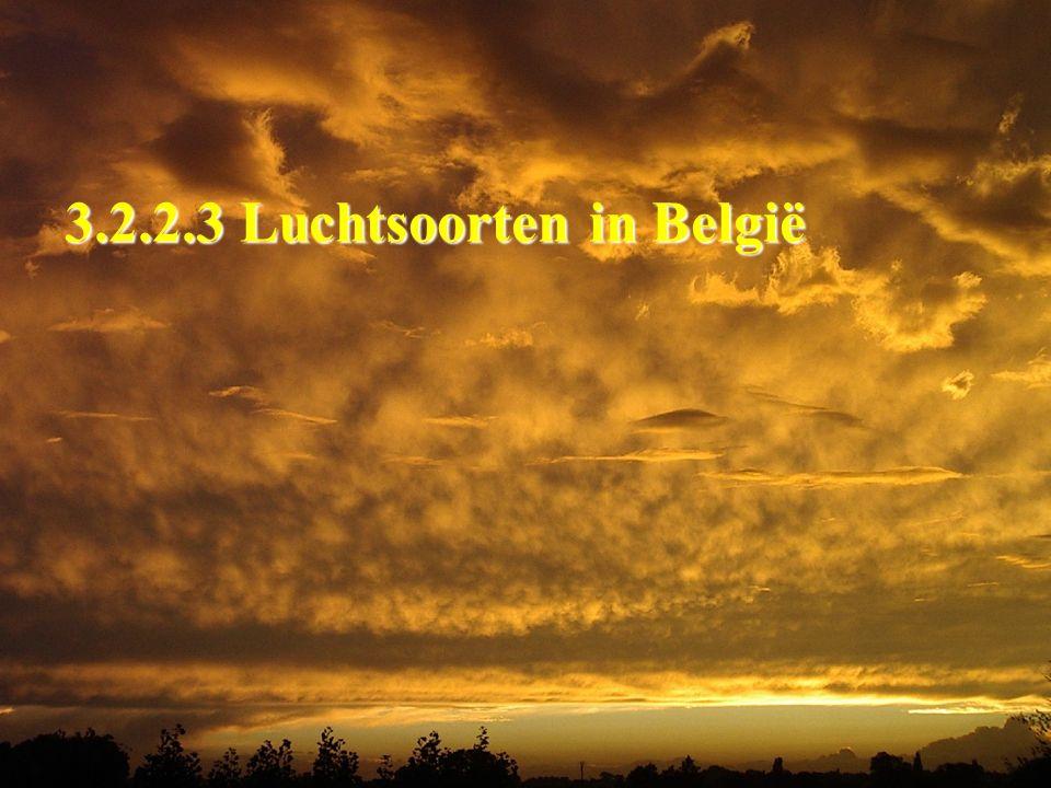 3.2.2.3 Luchtsoorten in België