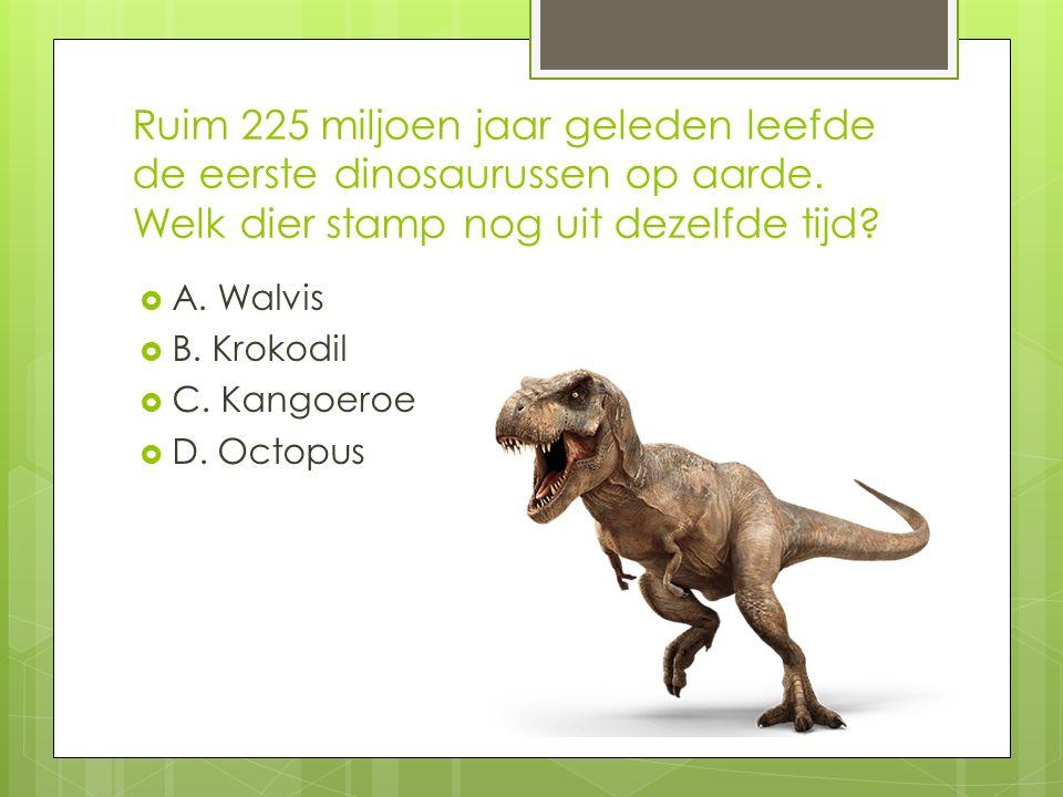Ruim 225 miljoen jaar geleden leefde de eerste dinosaurussen op aarde