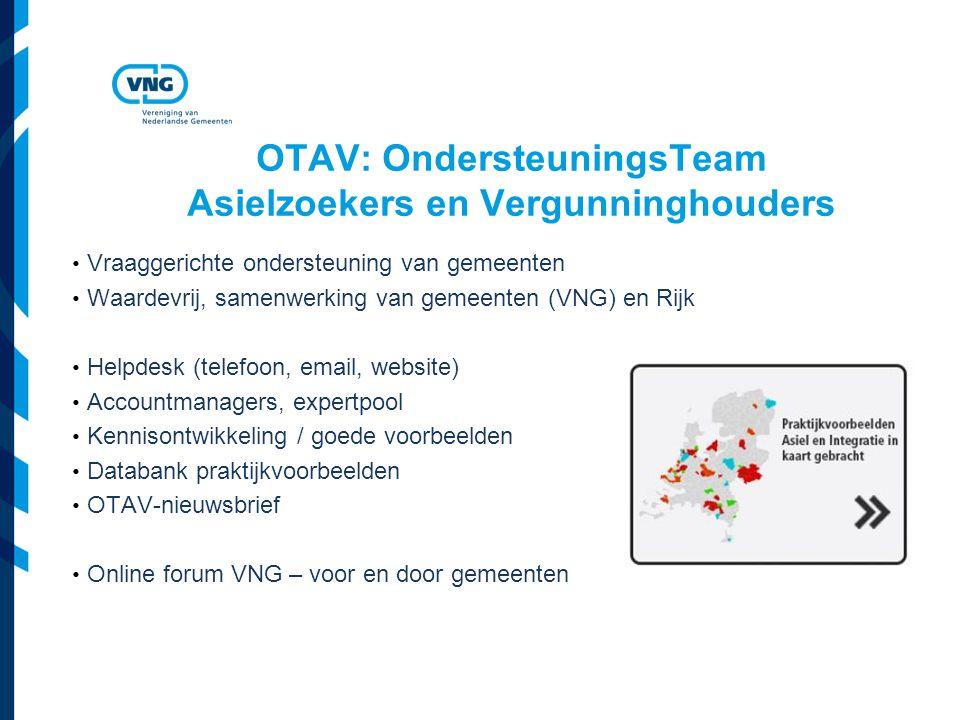 OTAV: OndersteuningsTeam Asielzoekers en Vergunninghouders