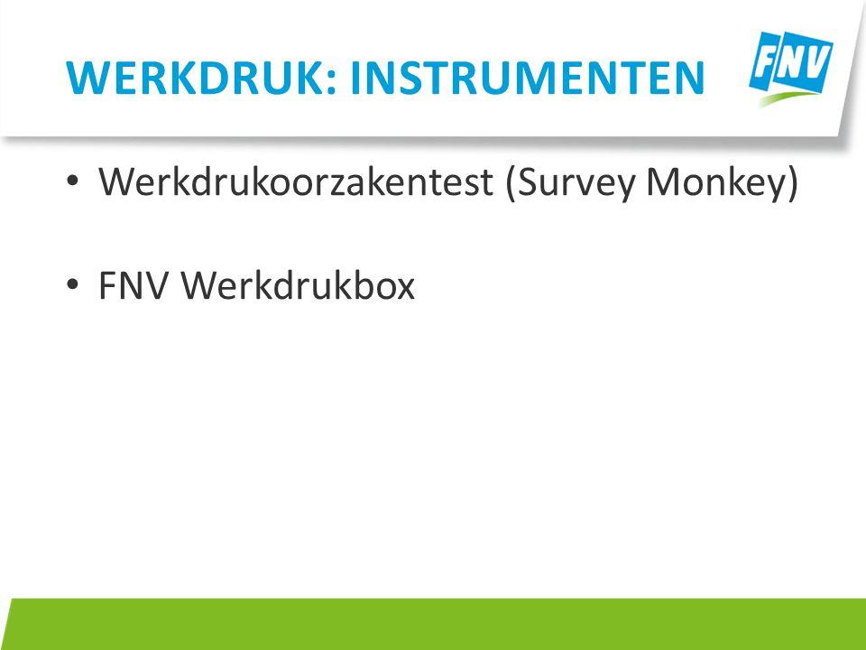 Werkdruk: instrumenten