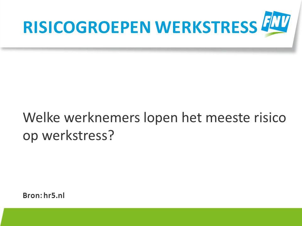 Risicogroepen werkstress