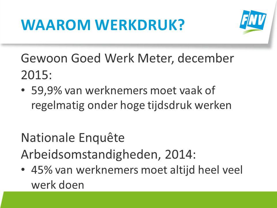 Waarom werkdruk Gewoon Goed Werk Meter, december 2015: