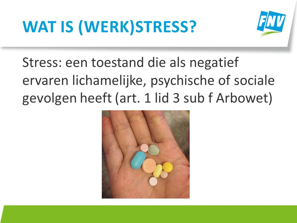 Wat is (werk)stress.