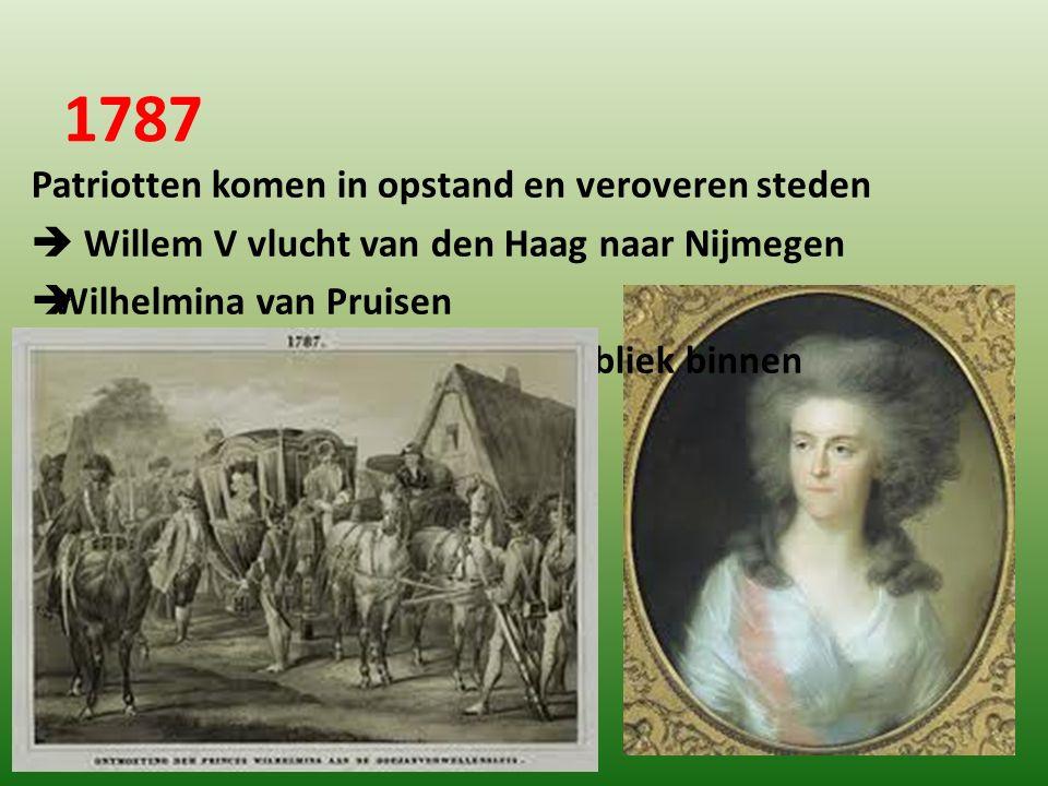 1787 Patriotten komen in opstand en veroveren steden