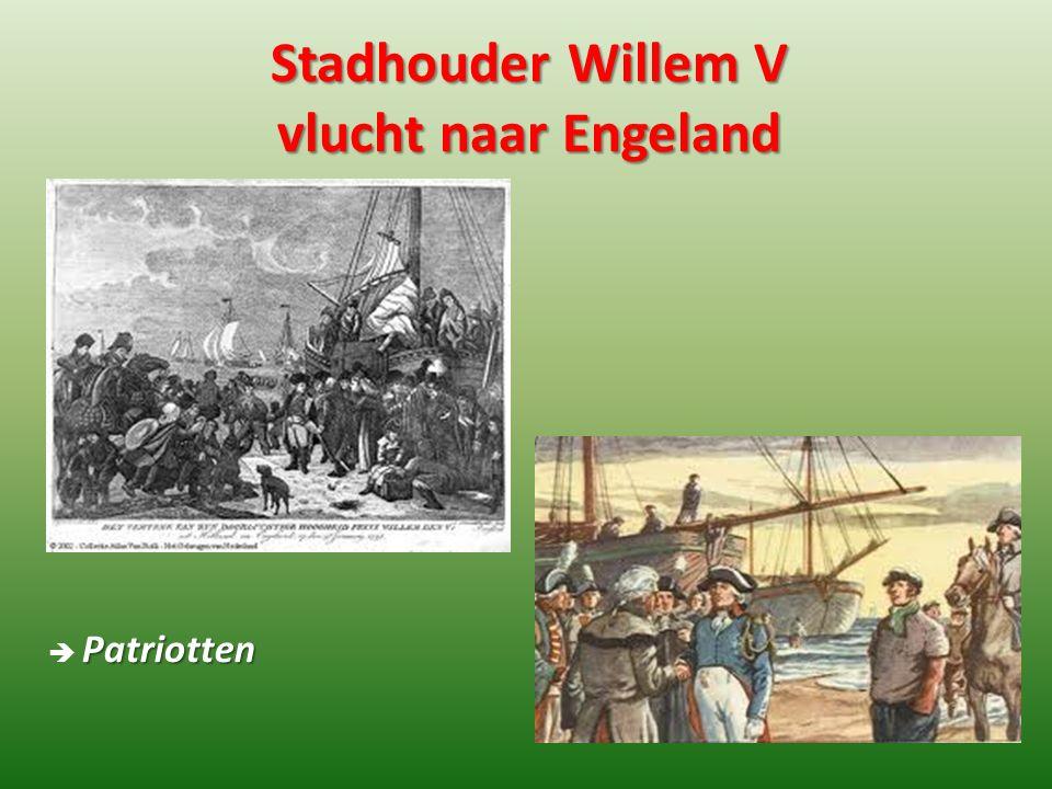 Stadhouder Willem V vlucht naar Engeland