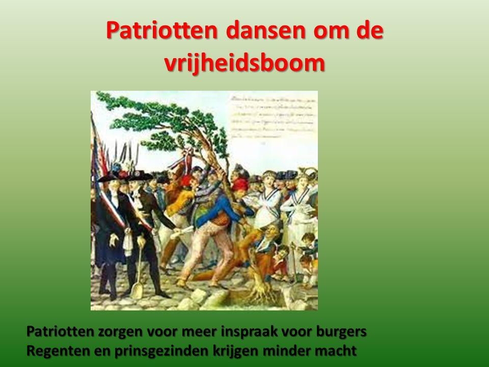 Patriotten dansen om de vrijheidsboom
