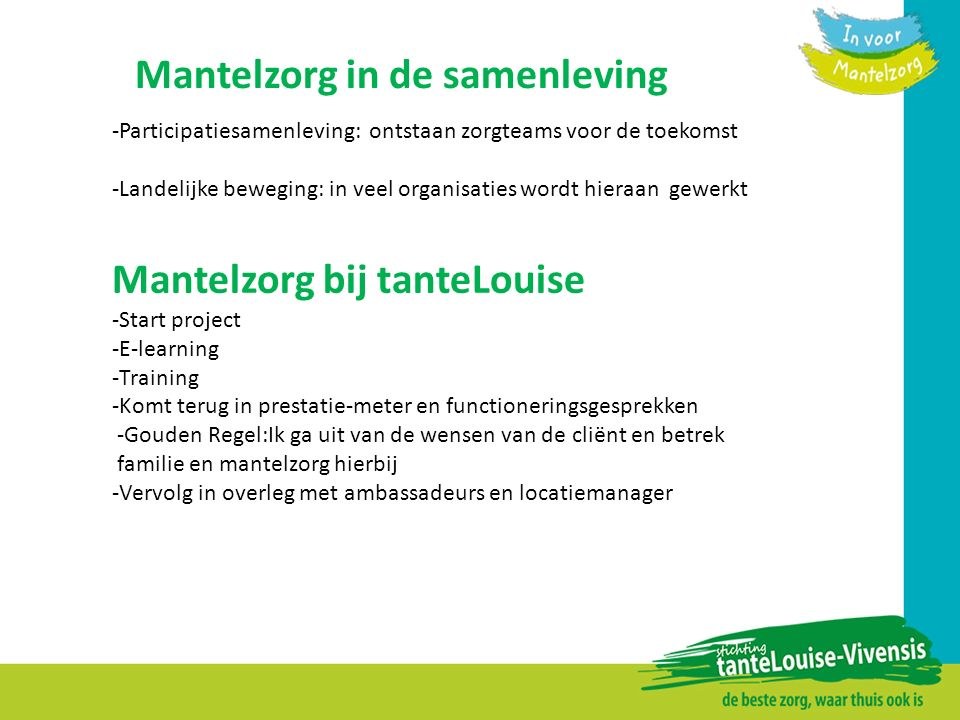 Mantelzorg in de samenleving