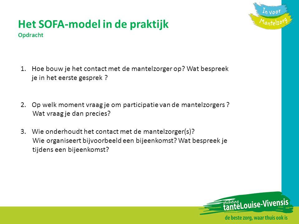 Het SOFA-model in de praktijk Opdracht