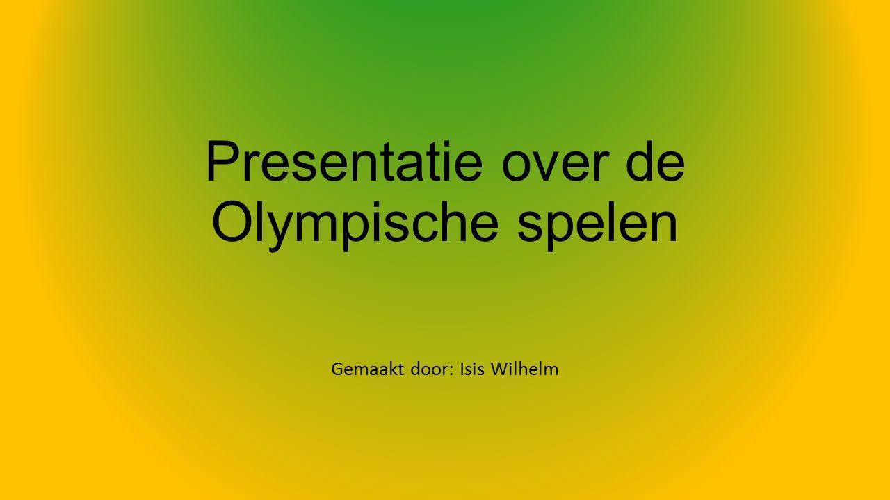 Presentatie over de Olympische spelen