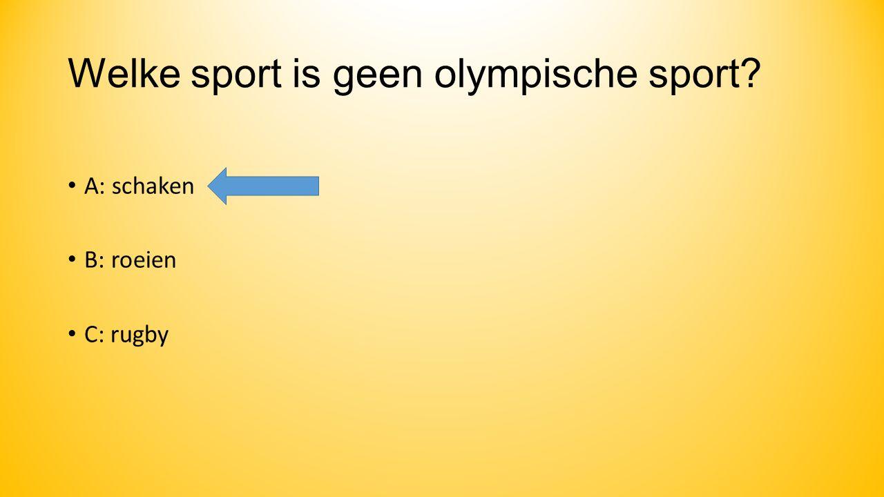 Welke sport is geen olympische sport