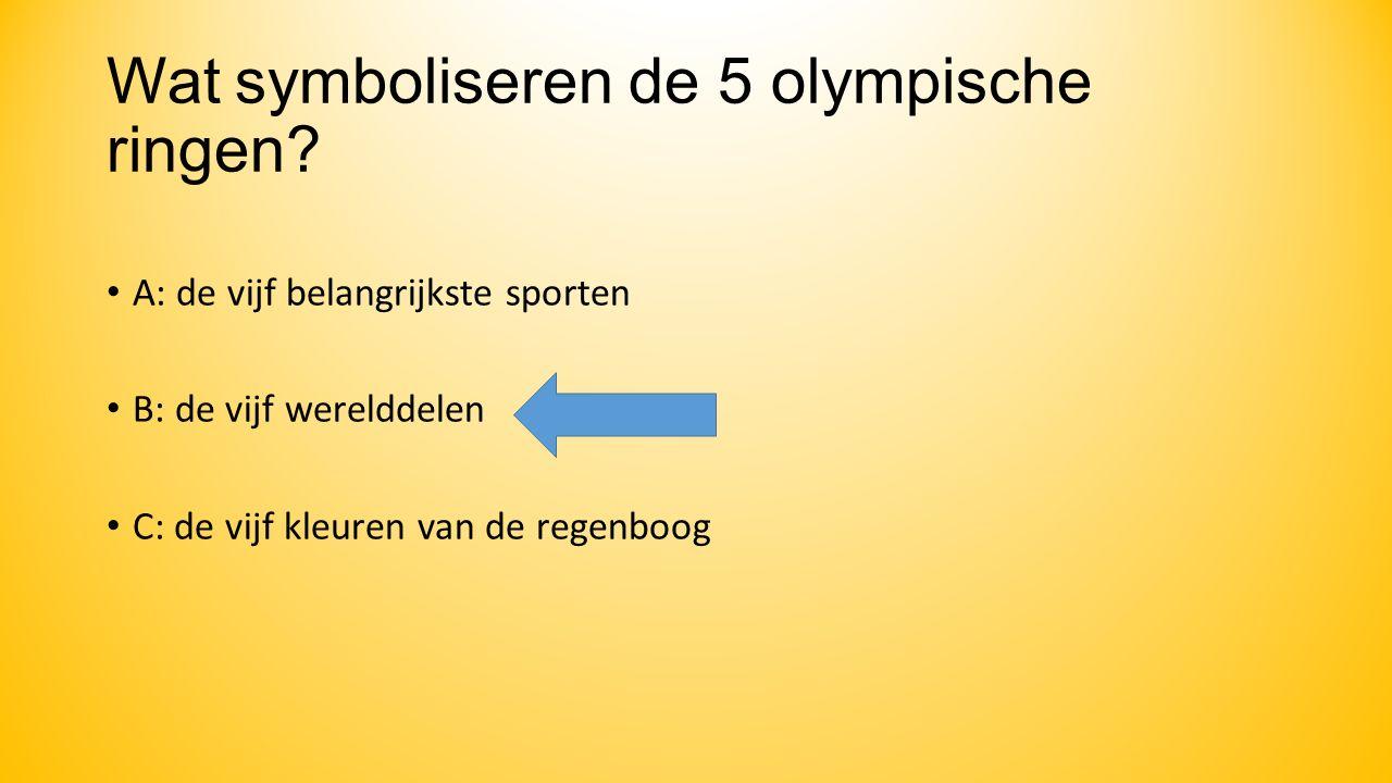 Wat symboliseren de 5 olympische ringen