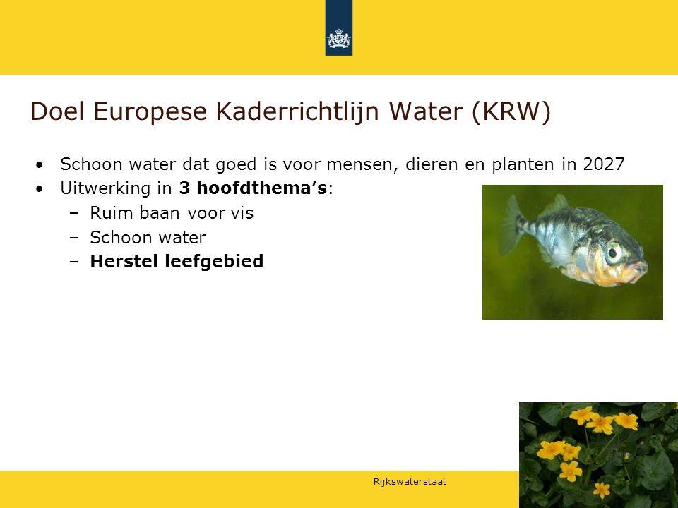 Doel Europese Kaderrichtlijn Water (KRW)