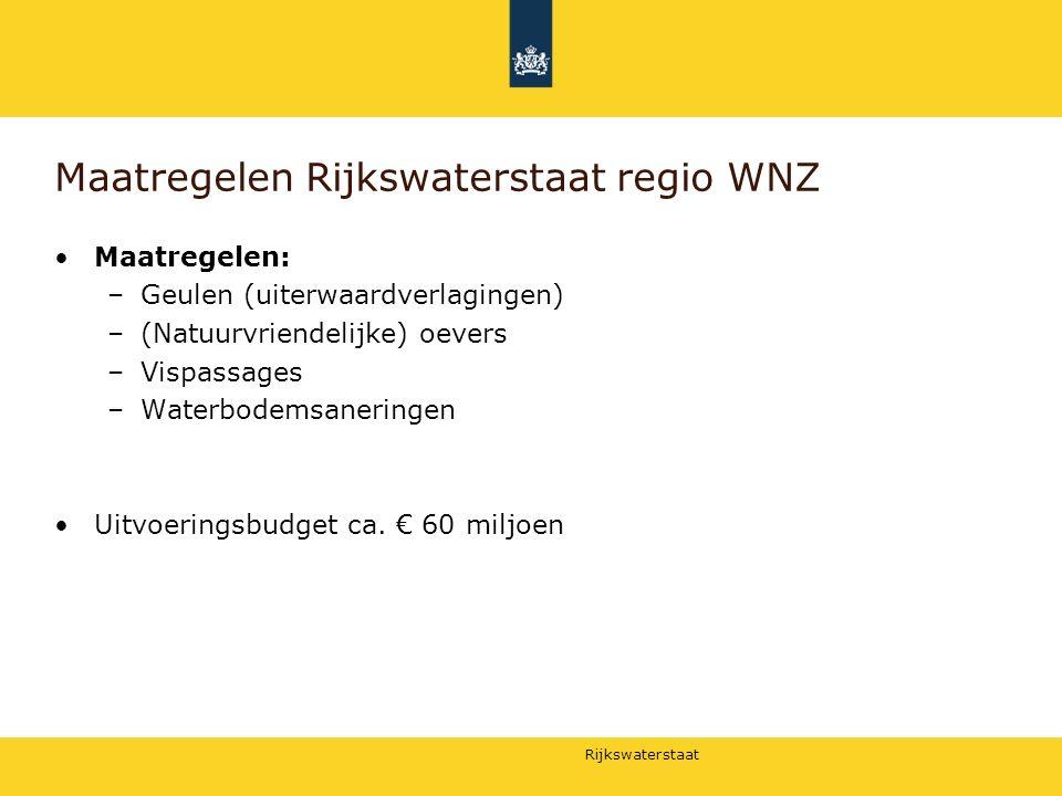 Maatregelen Rijkswaterstaat regio WNZ