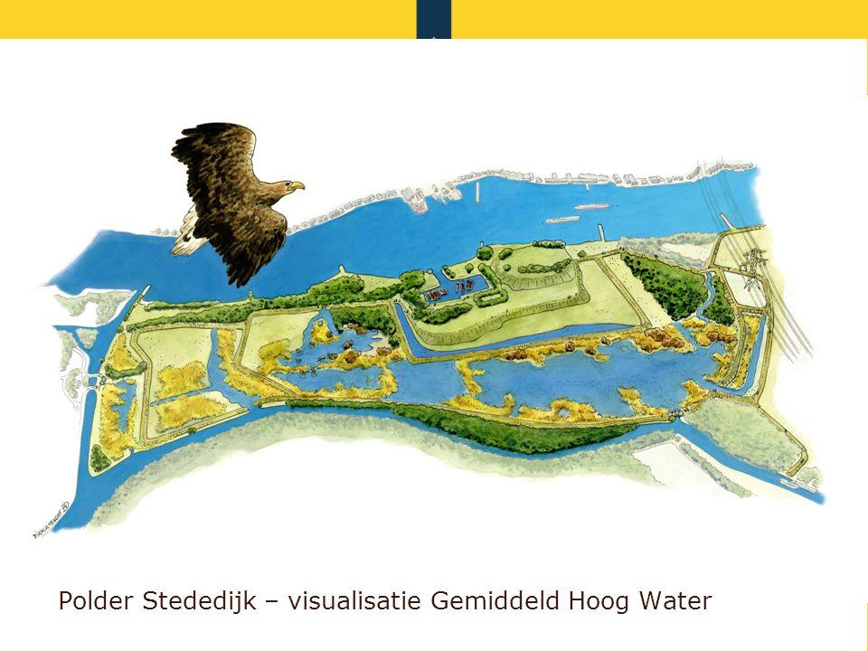 Polder Stededijk – visualisatie Gemiddeld Hoog Water