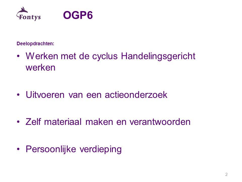 OGP6 Werken met de cyclus Handelingsgericht werken