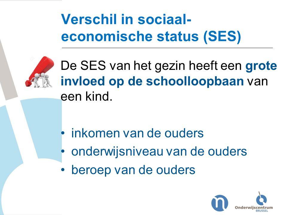 Verschil in sociaal-economische status (SES)