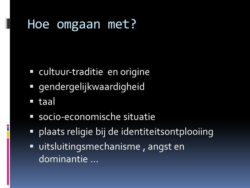 Hoe omgaan met cultuur‐traditie en origine gendergelijkwaardigheid
