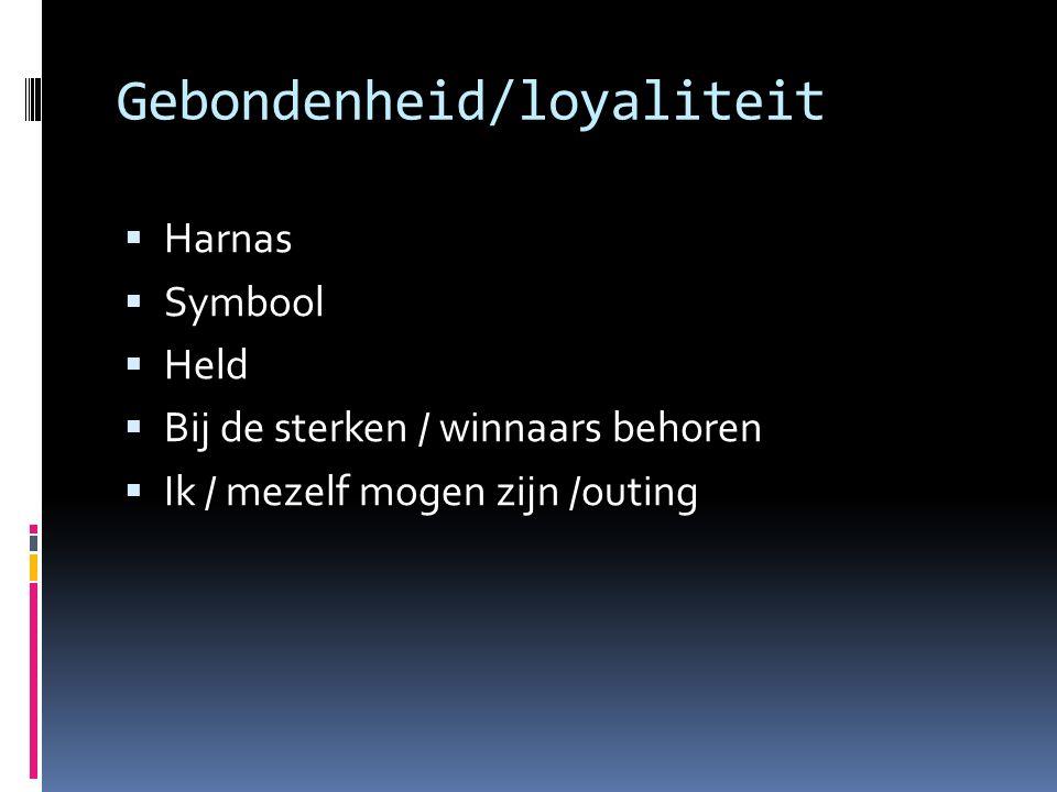 Gebondenheid/loyaliteit