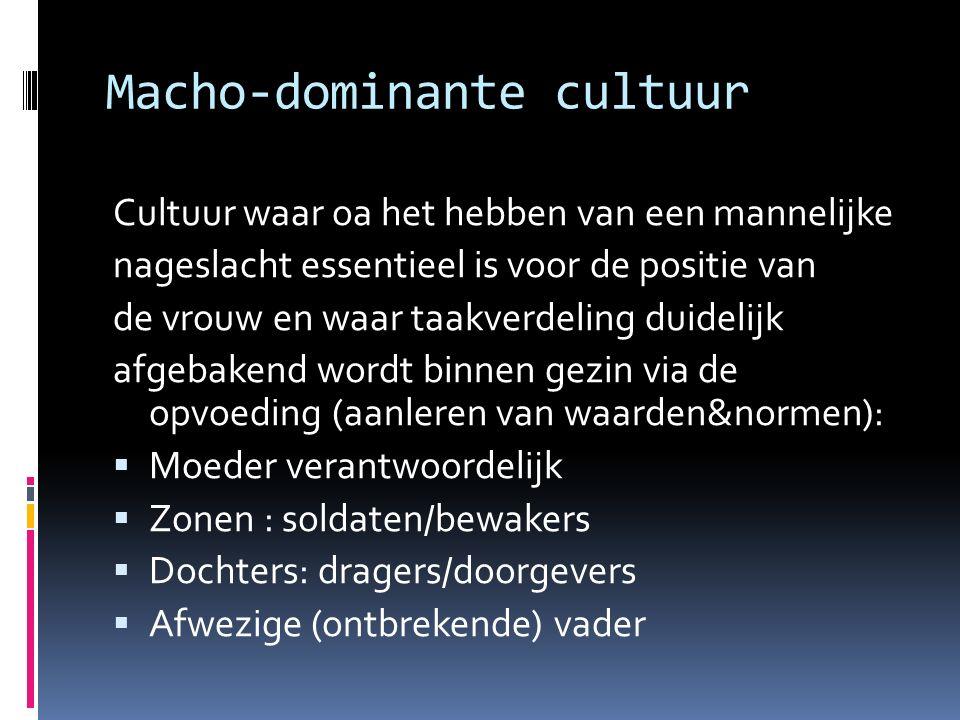 Macho‐dominante cultuur