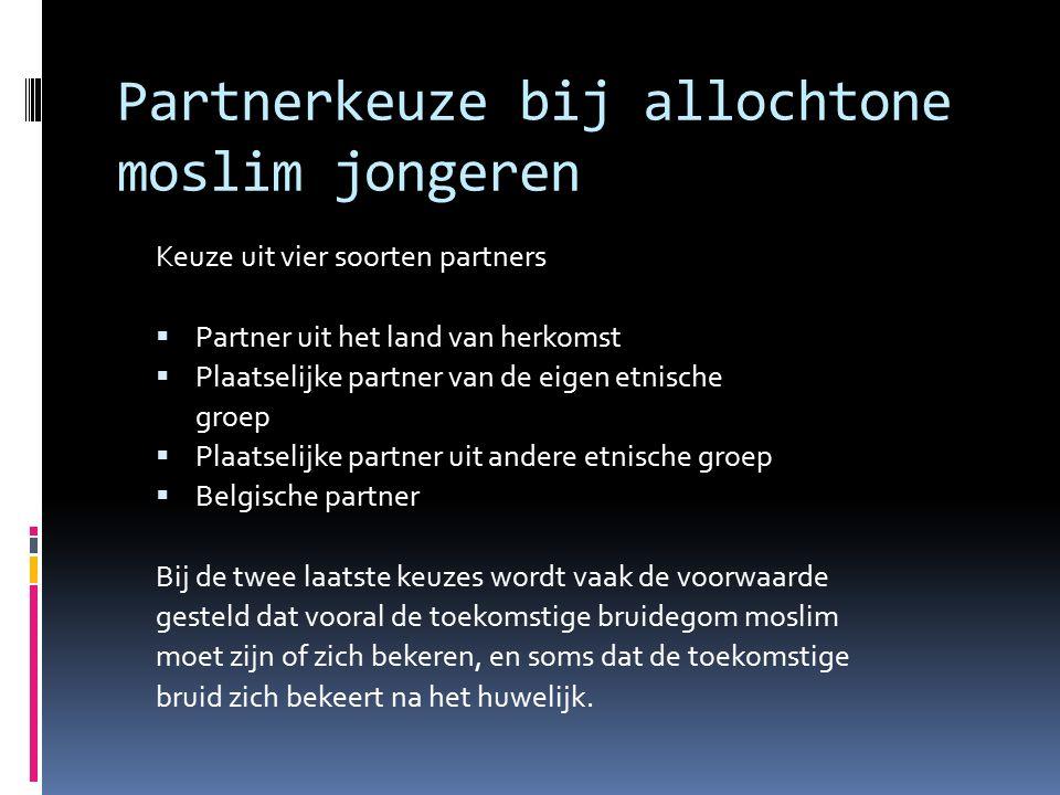 Partnerkeuze bij allochtone moslim jongeren
