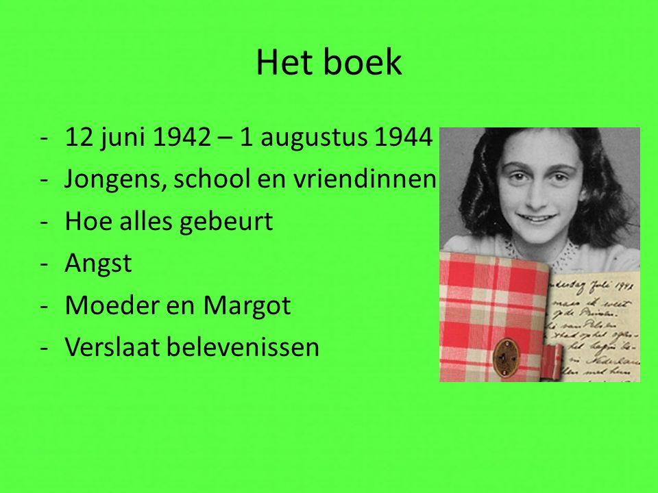 Het boek 12 juni 1942 – 1 augustus 1944 Jongens, school en vriendinnen