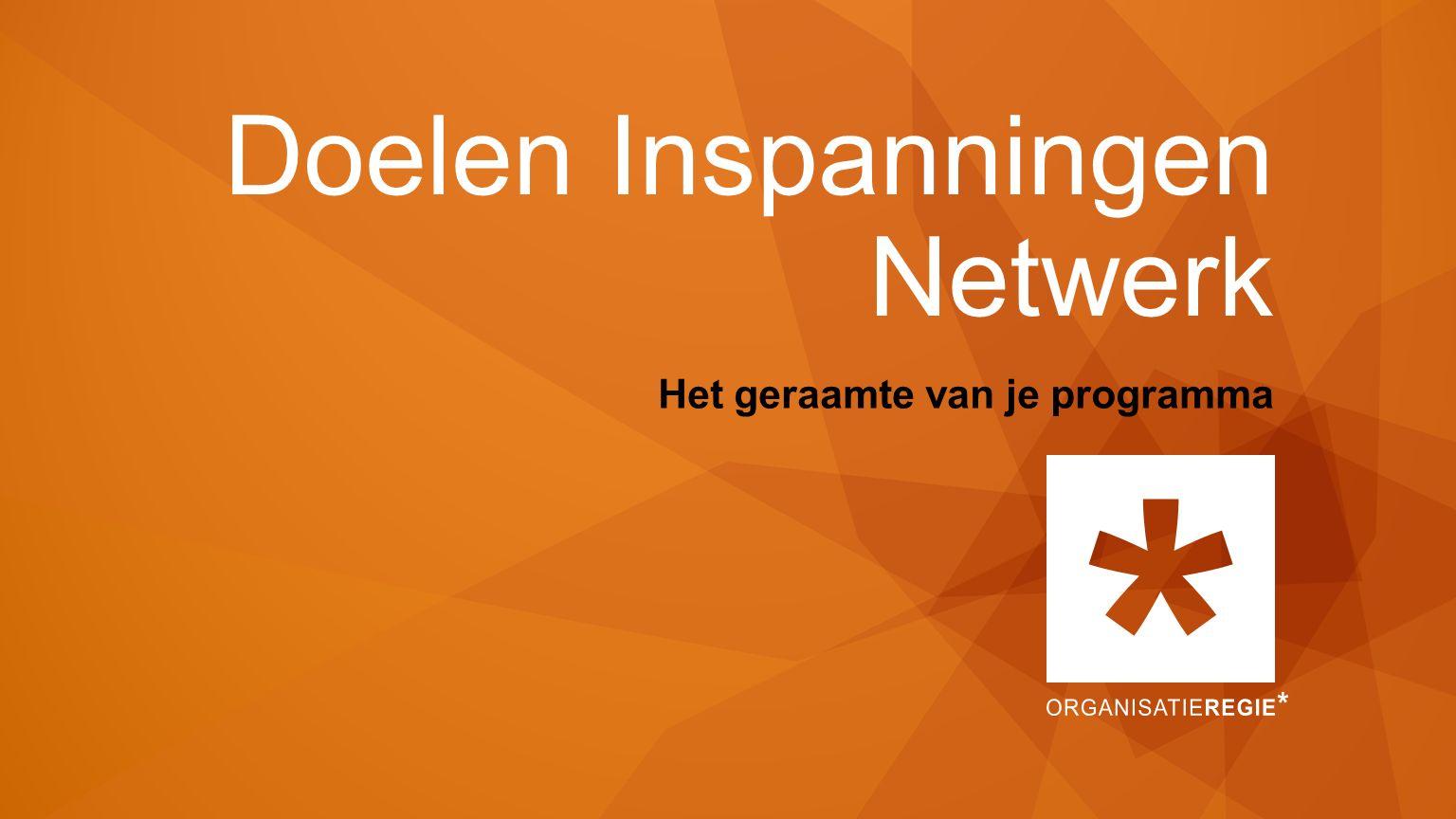 Doelen Inspanningen Netwerk