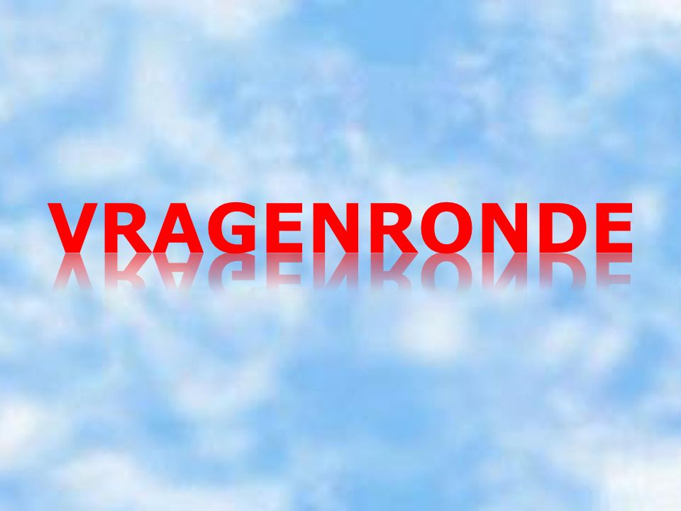 VRAGENRONDE