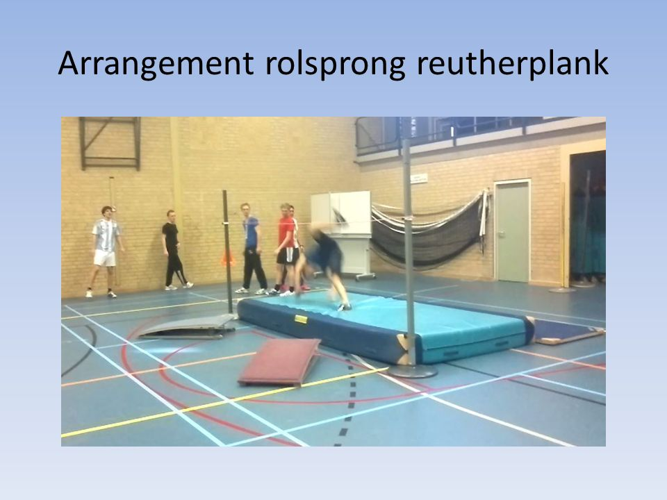 Arrangement rolsprong reutherplank