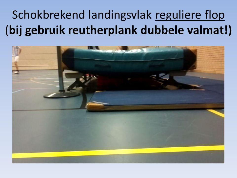Schokbrekend landingsvlak reguliere flop (bij gebruik reutherplank dubbele valmat!)