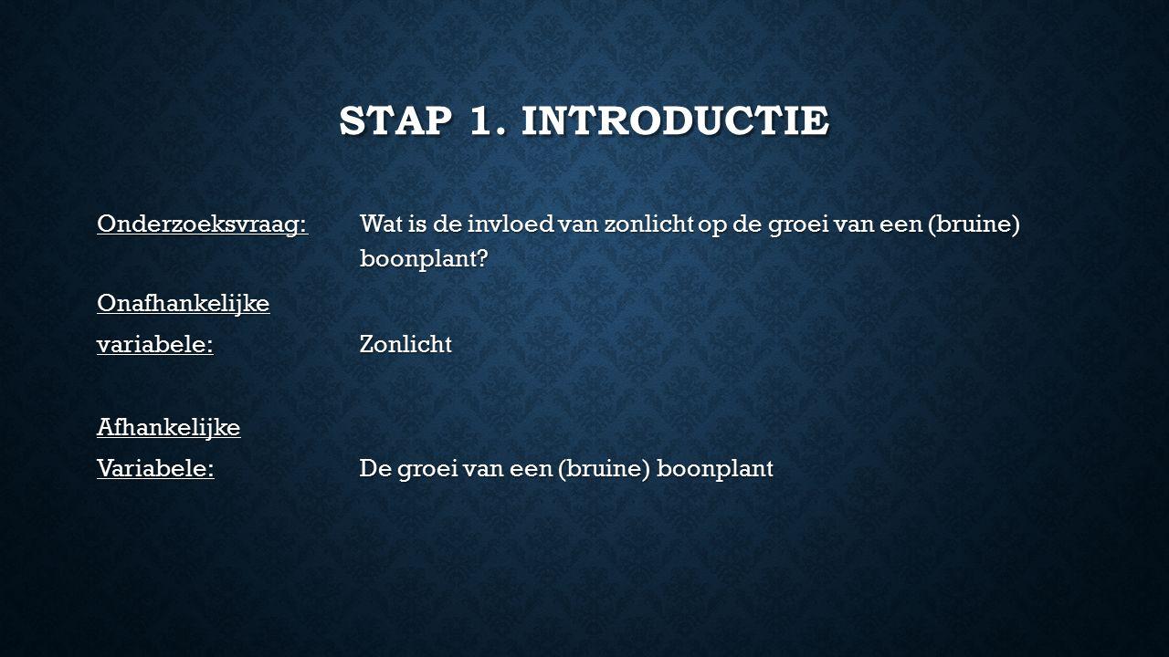 Stap 1. Introductie