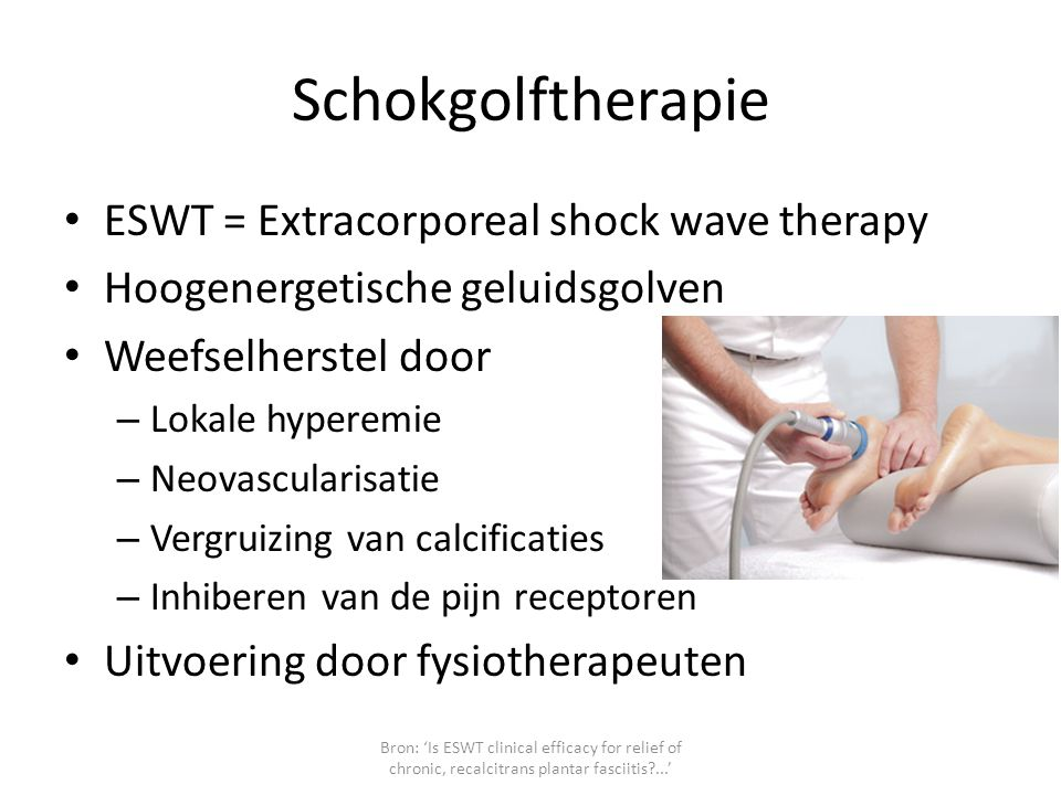 Schokgolftherapie ESWT = Extracorporeal shock wave therapy