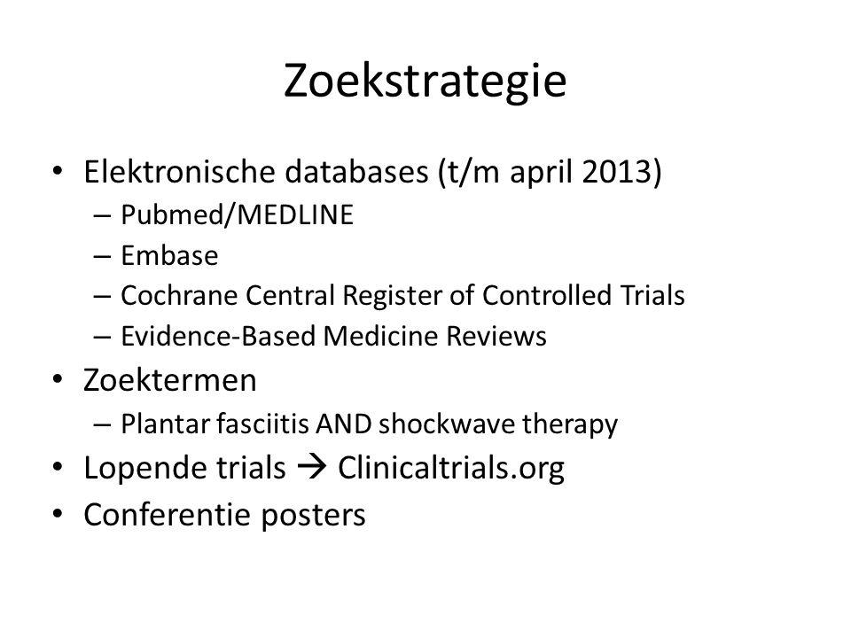 Zoekstrategie Elektronische databases (t/m april 2013) Zoektermen