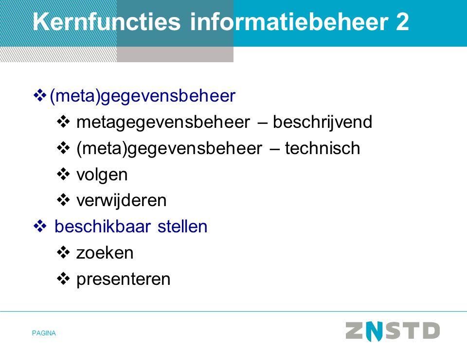 Kernfuncties informatiebeheer 2