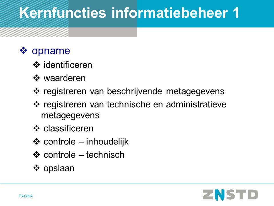 Kernfuncties informatiebeheer 1