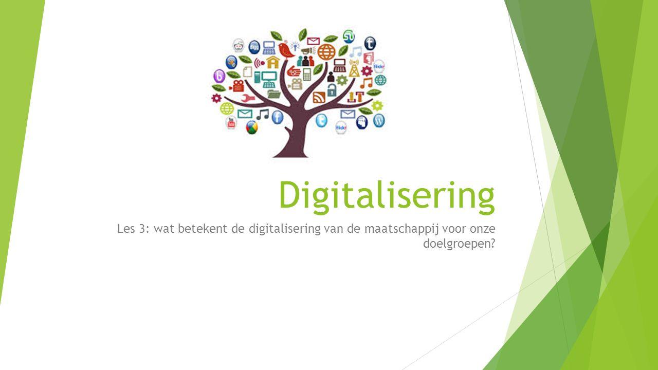 Digitalisering Les 3: wat betekent de digitalisering van de maatschappij voor onze doelgroepen