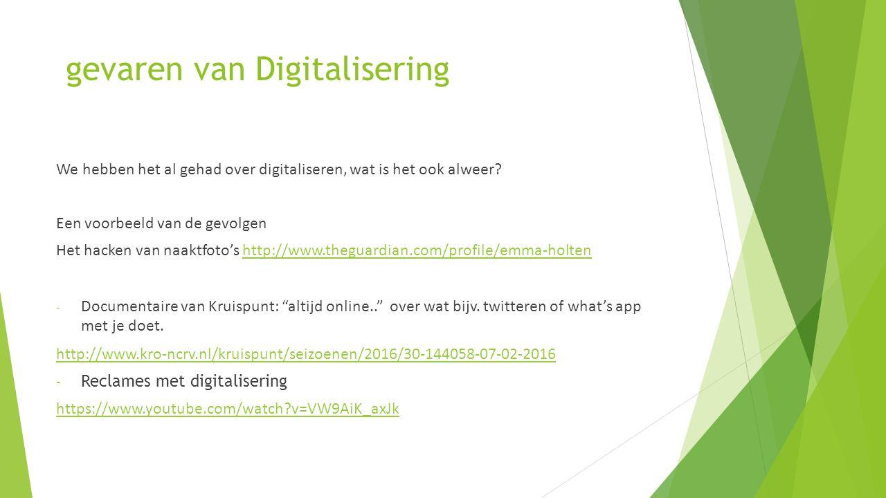 gevaren van Digitalisering