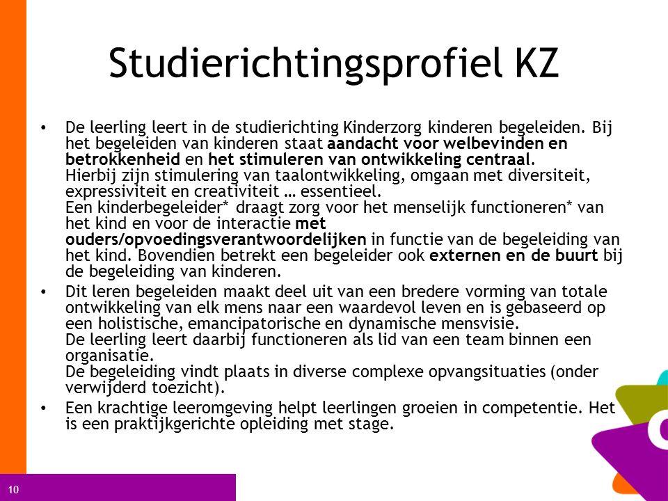 Studierichtingsprofiel KZ