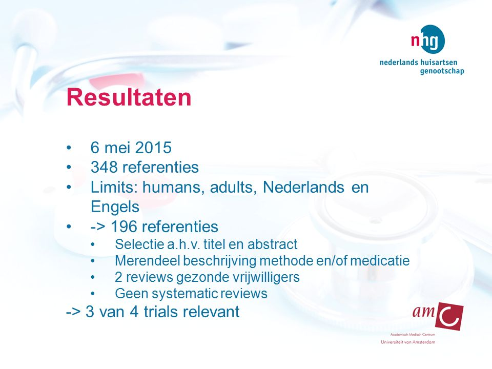 Resultaten 6 mei 2015 348 referenties