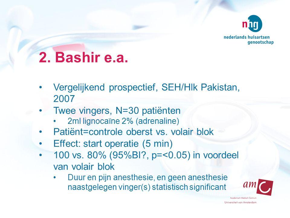 2. Bashir e.a. Vergelijkend prospectief, SEH/Hlk Pakistan, 2007