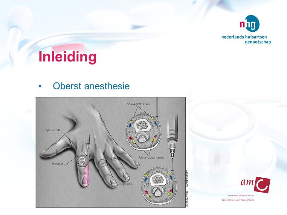 Inleiding Oberst anesthesie
