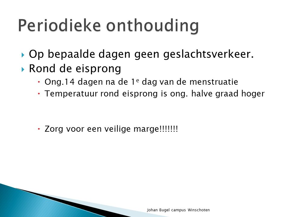 Periodieke onthouding