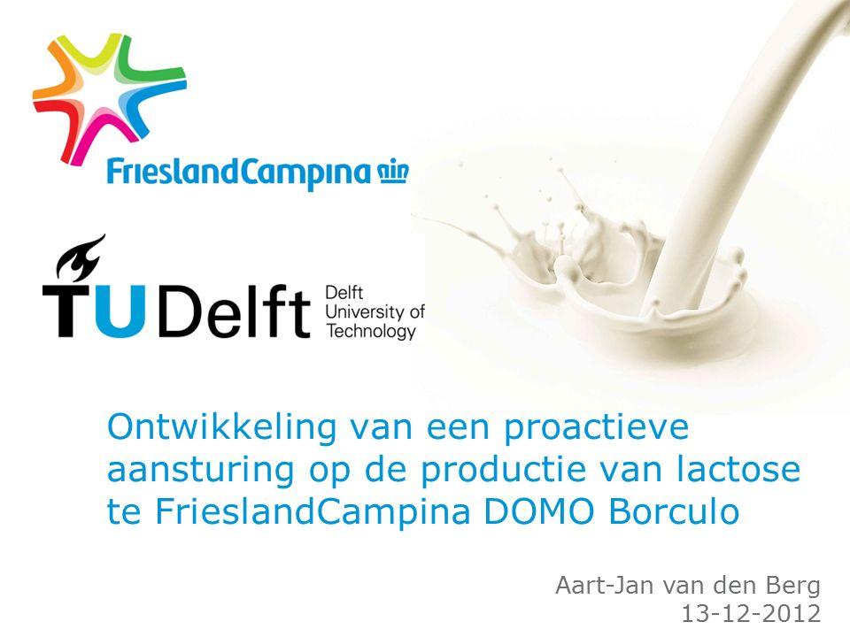 Ontwikkeling van een proactieve aansturing op de productie van lactose te FrieslandCampina DOMO Borculo