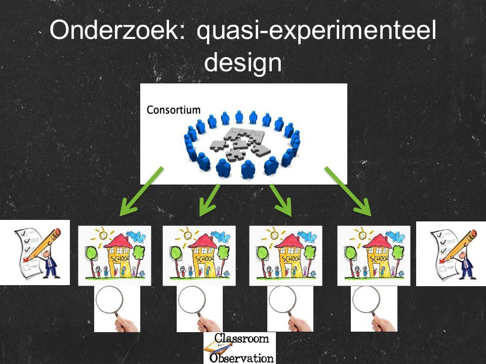 Onderzoek: quasi-experimenteel design